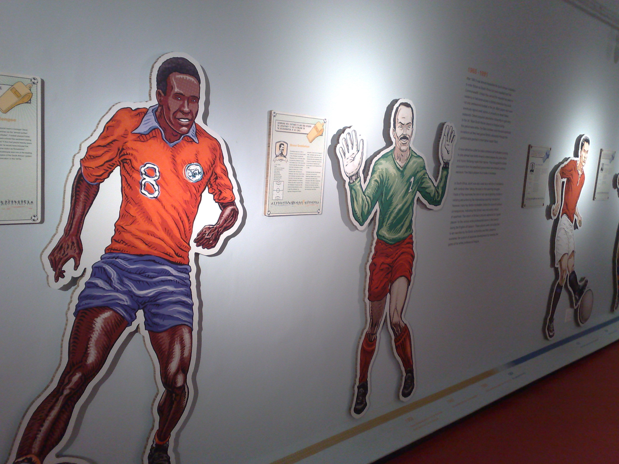 Offside exhibition - Offside exhibition at the District Six Museum, Cape Town.