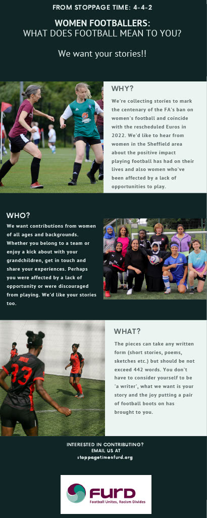 442 - Call for women to share their football experiences in writing