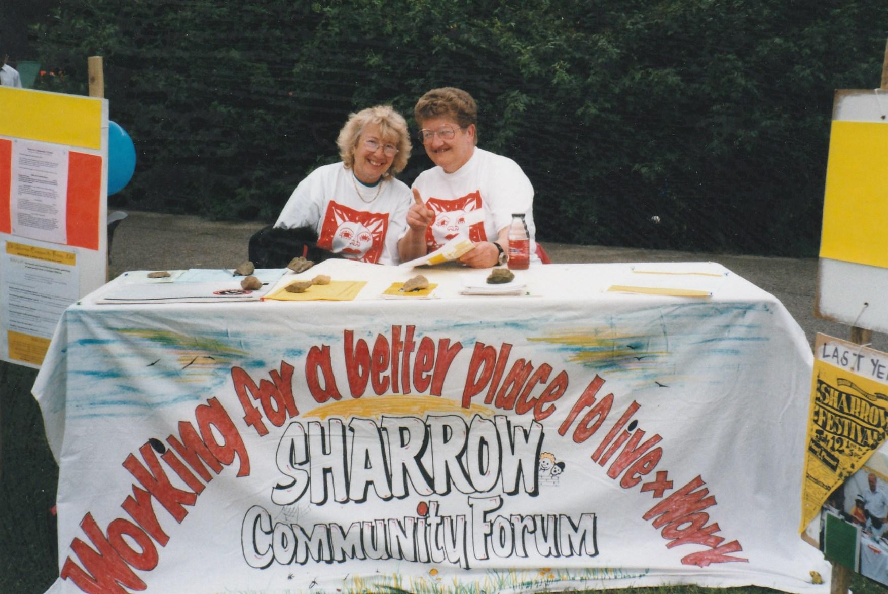 Ann Wilson on the right at the 1998 Sharrow Festival - Ann Wilson on the right at the 1998 Sharrow Festival