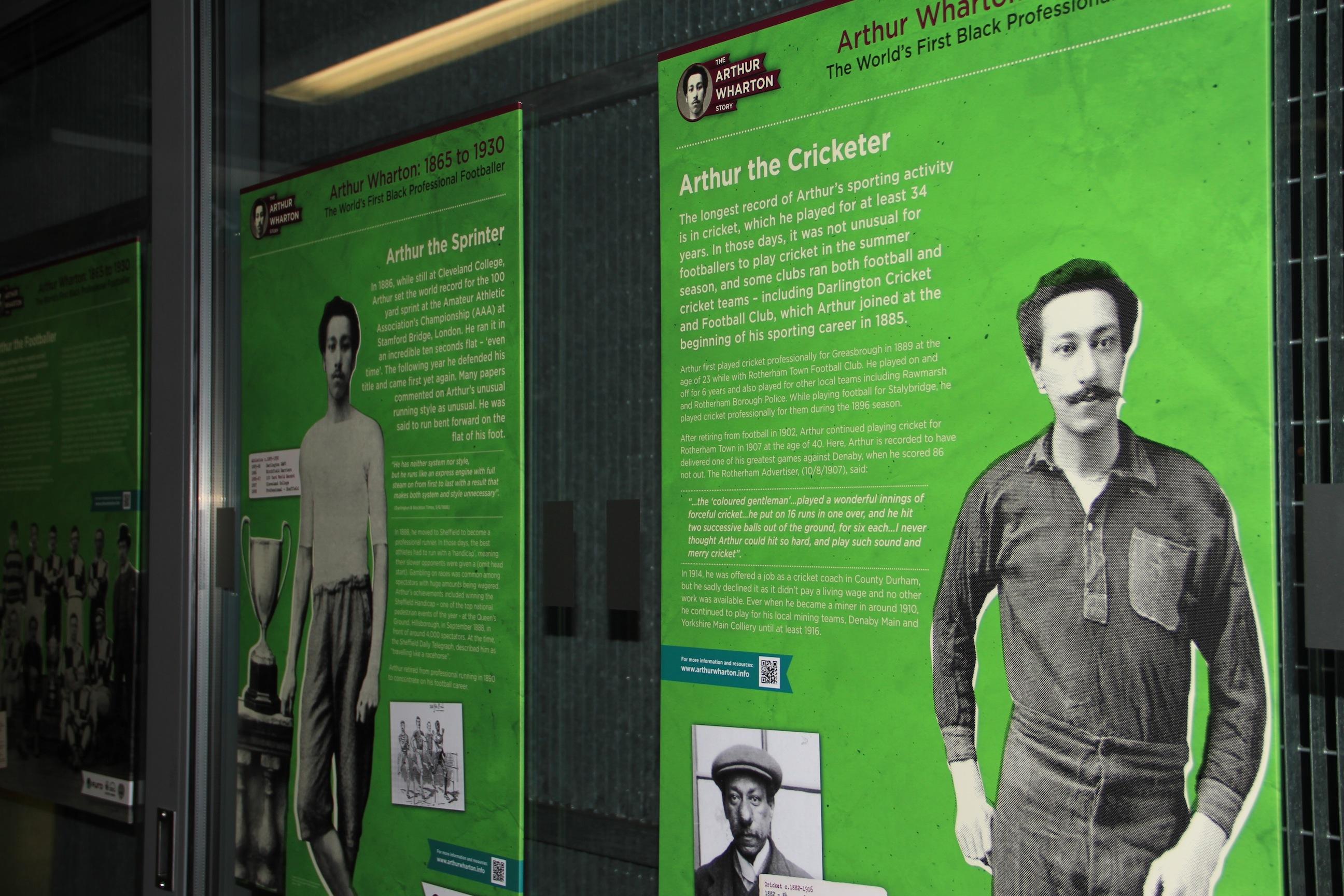 Arthur Wharton Story exhibition - Arthur Wharton Story HLF project exhibition panel