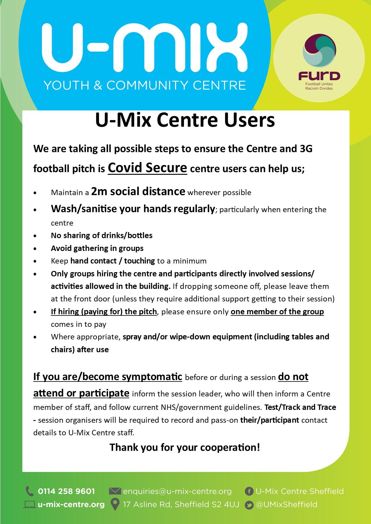 Covid Centre notice