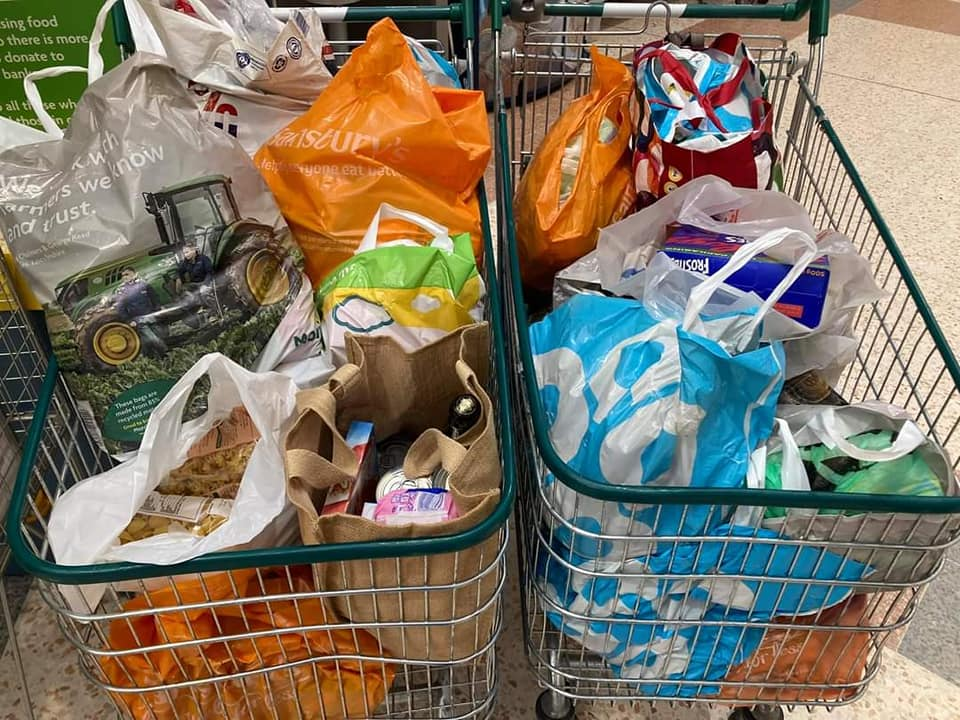 Foodbank donations from FURD and FFF