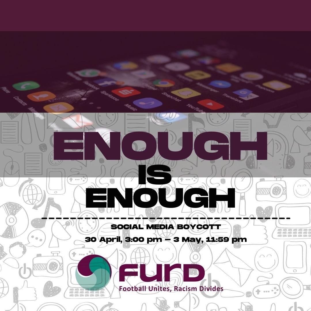 Enough in enough - Social media boycott