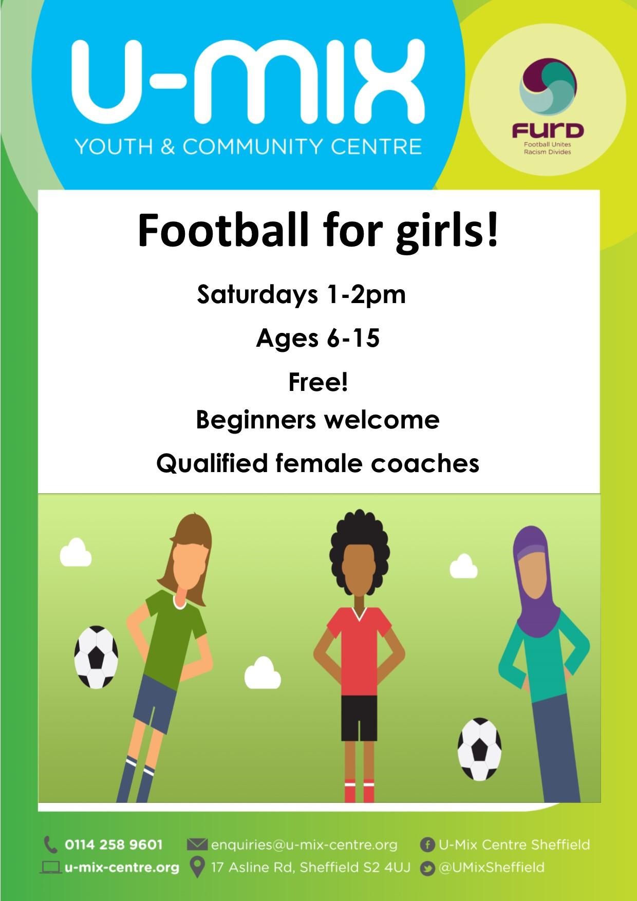 Football for girls 2021 - Flyer for girls football