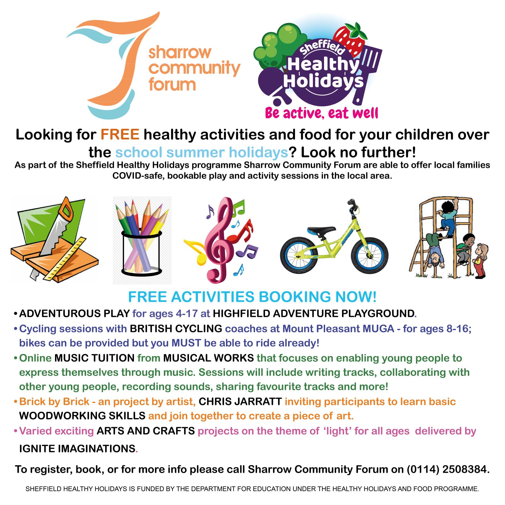 Sheffield Healthy Holidays programme flyer