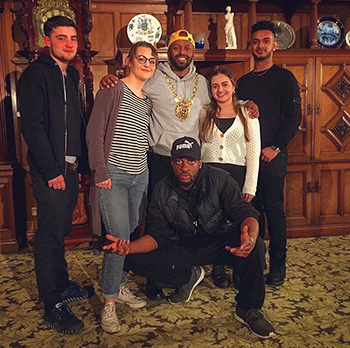 Hive young writers with Lord Mayor Magid Magid