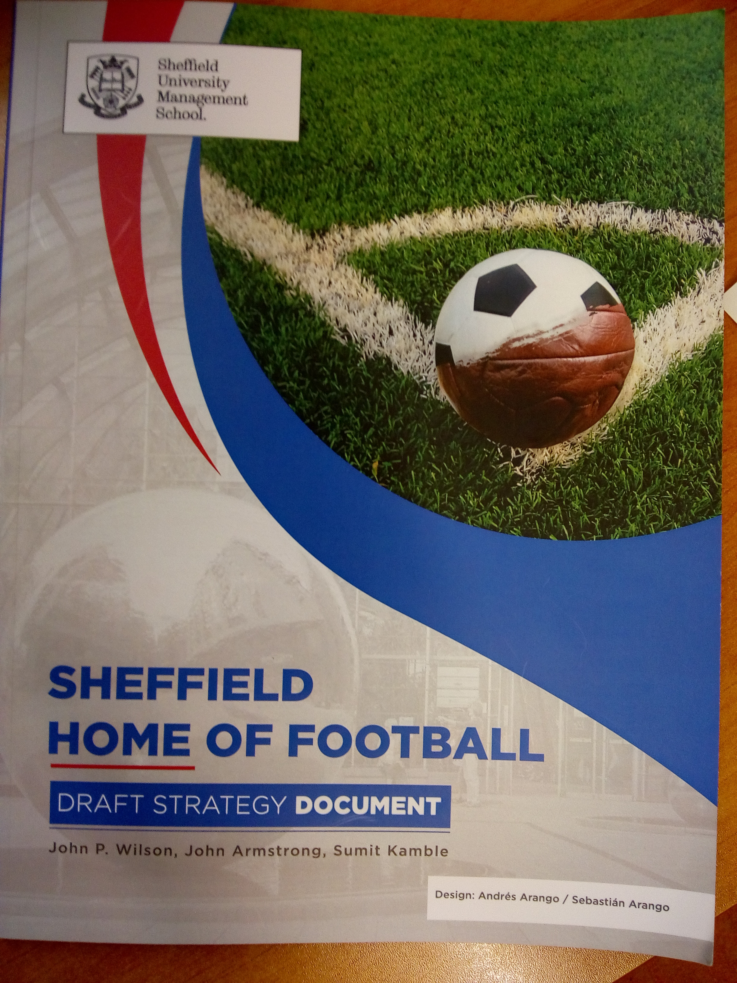 Sheffield Home of Football Draft Strategy Document - Front cover