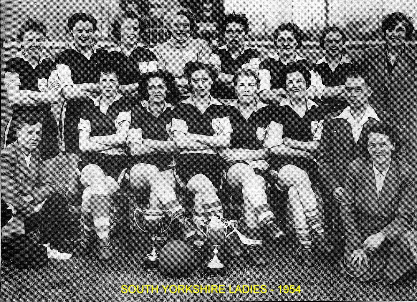 South Yorkshire Ladies 1954 - South Yorkshire Ladies 1954, Provided by Chris Eyre.
