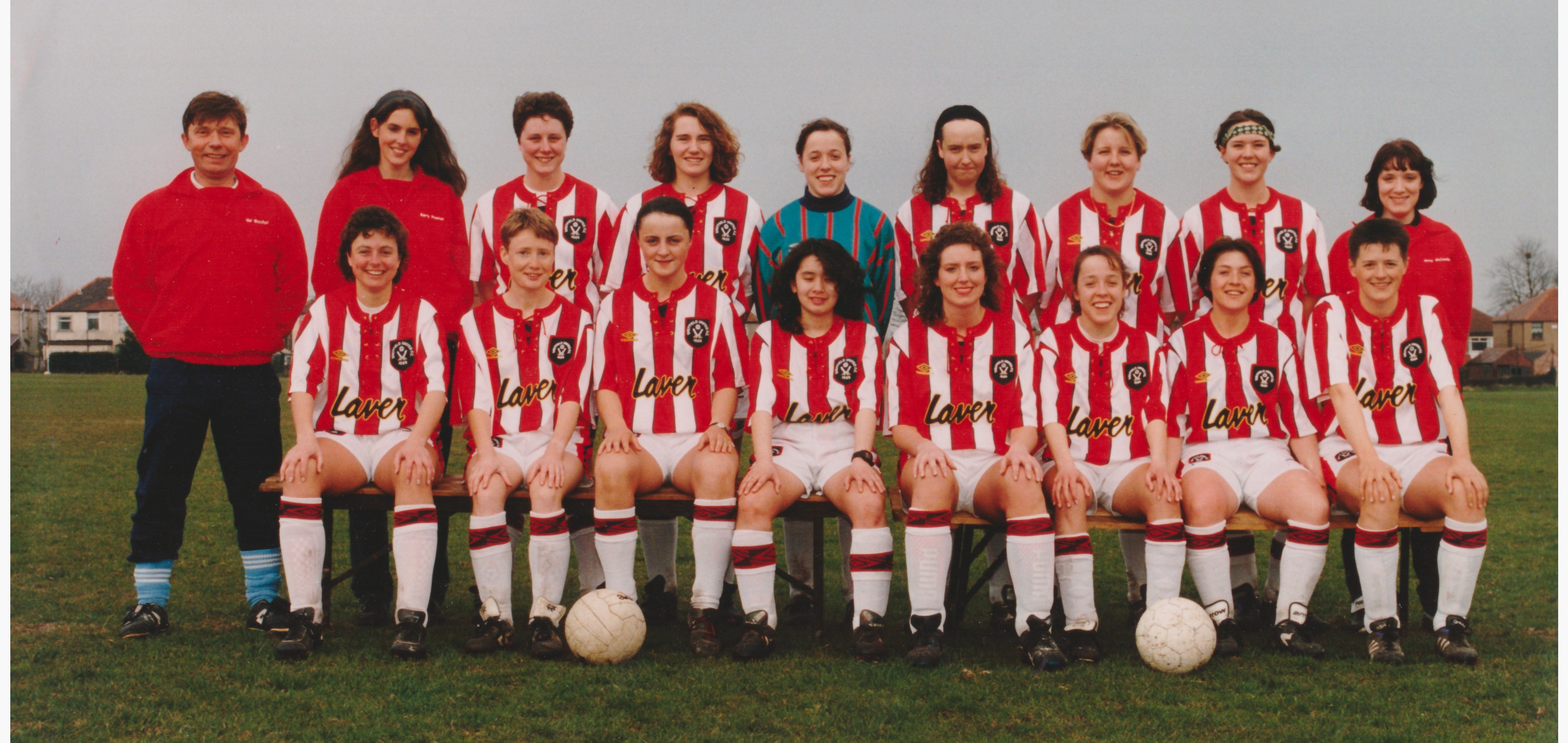 Sheffield Hallam United, c1993-1996. - Sheffield Hallam United, c1993-1996, probably taken at Norton. Scanned from Ruth's photo but can't remember who took it.