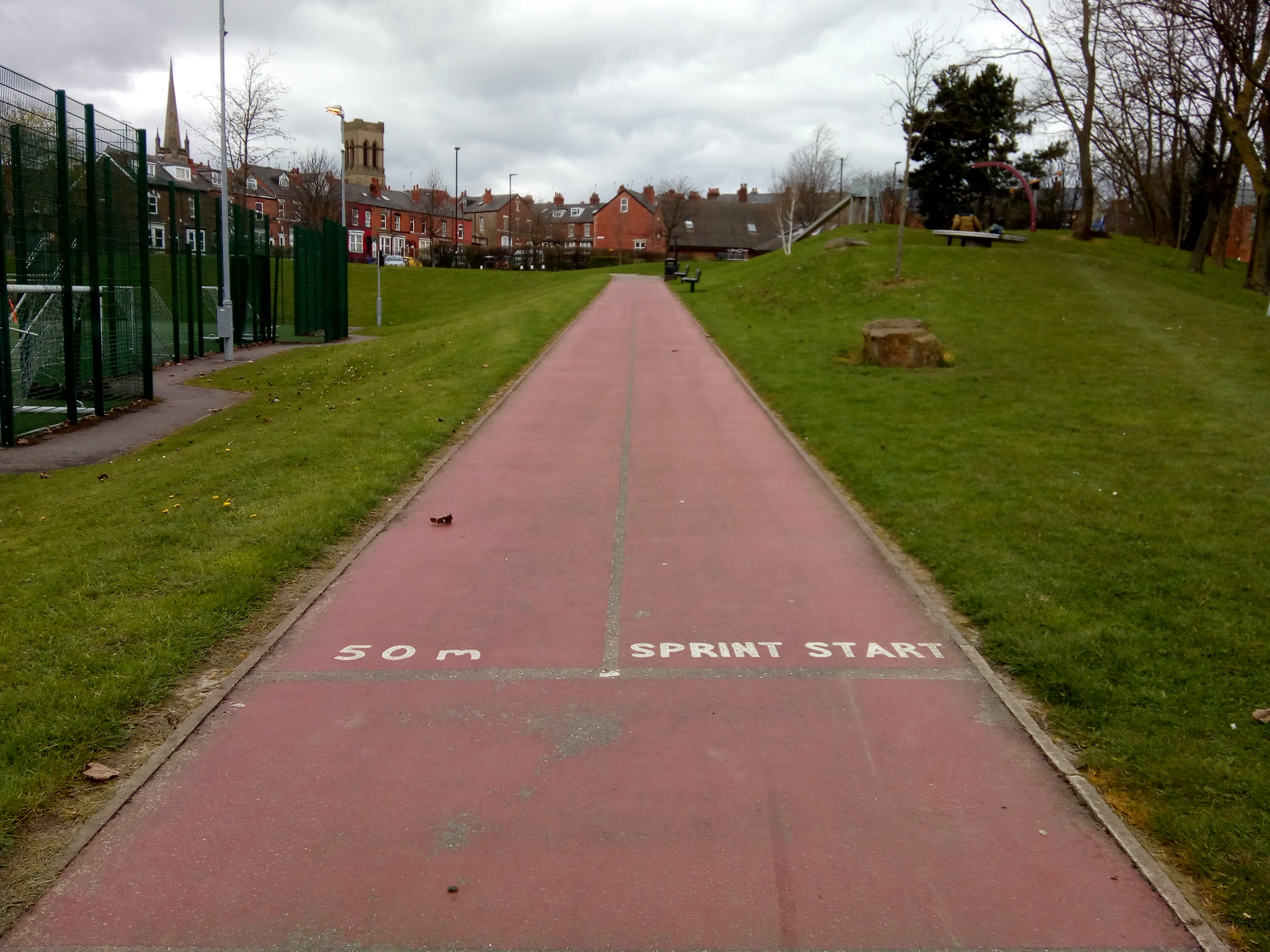 Lowfield Park running track