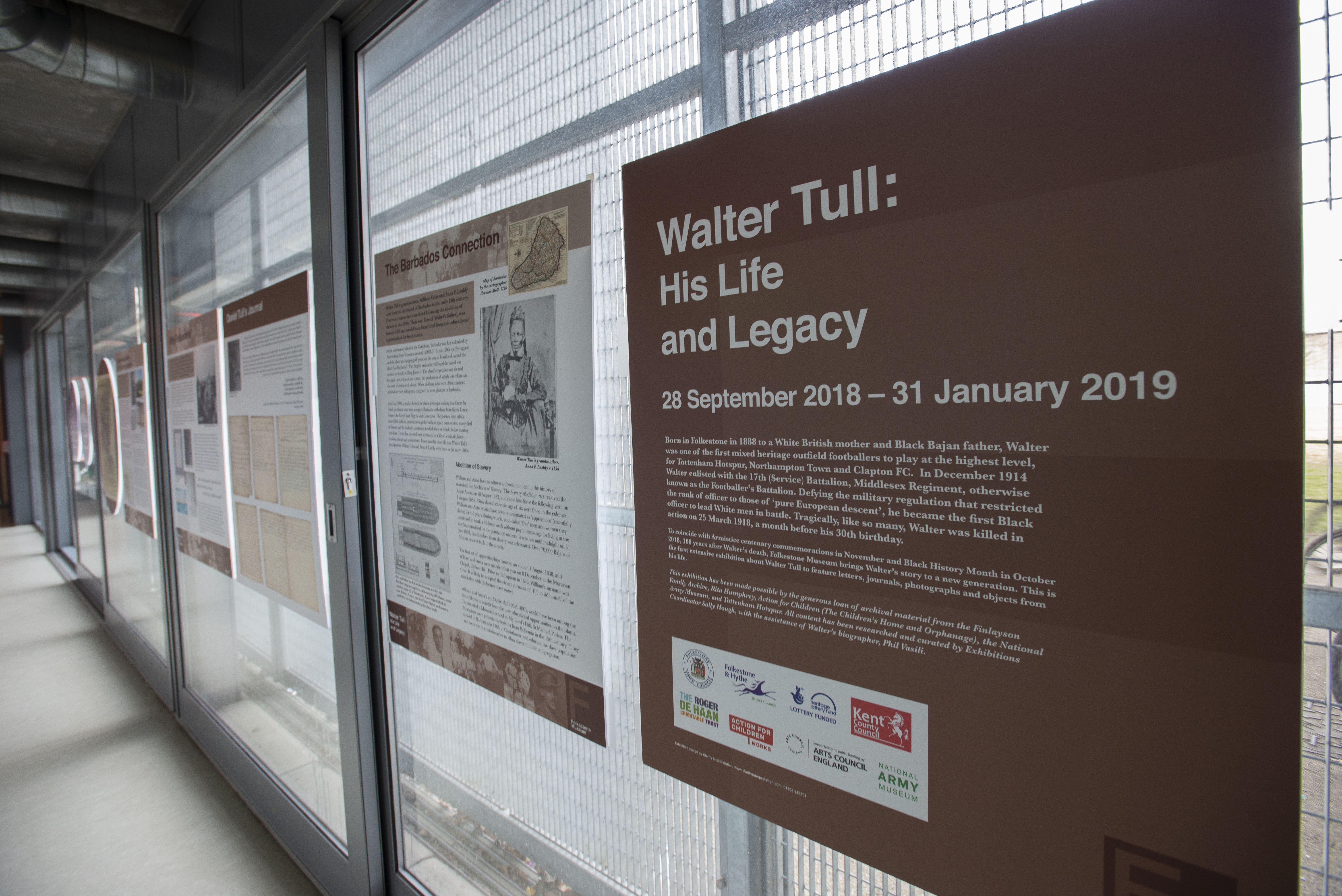 Walter Tull exhibition - Exhibition panels